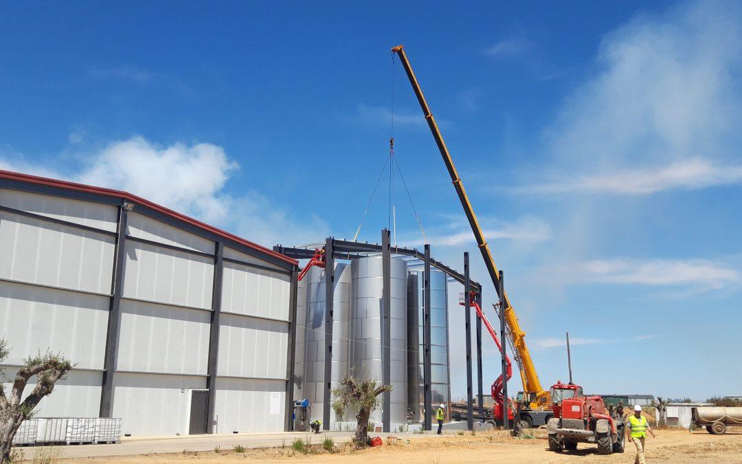 Avanzan las obras de la almazara para Aggraria en Portugal, diseñada por GE&PE INGENIERÍA