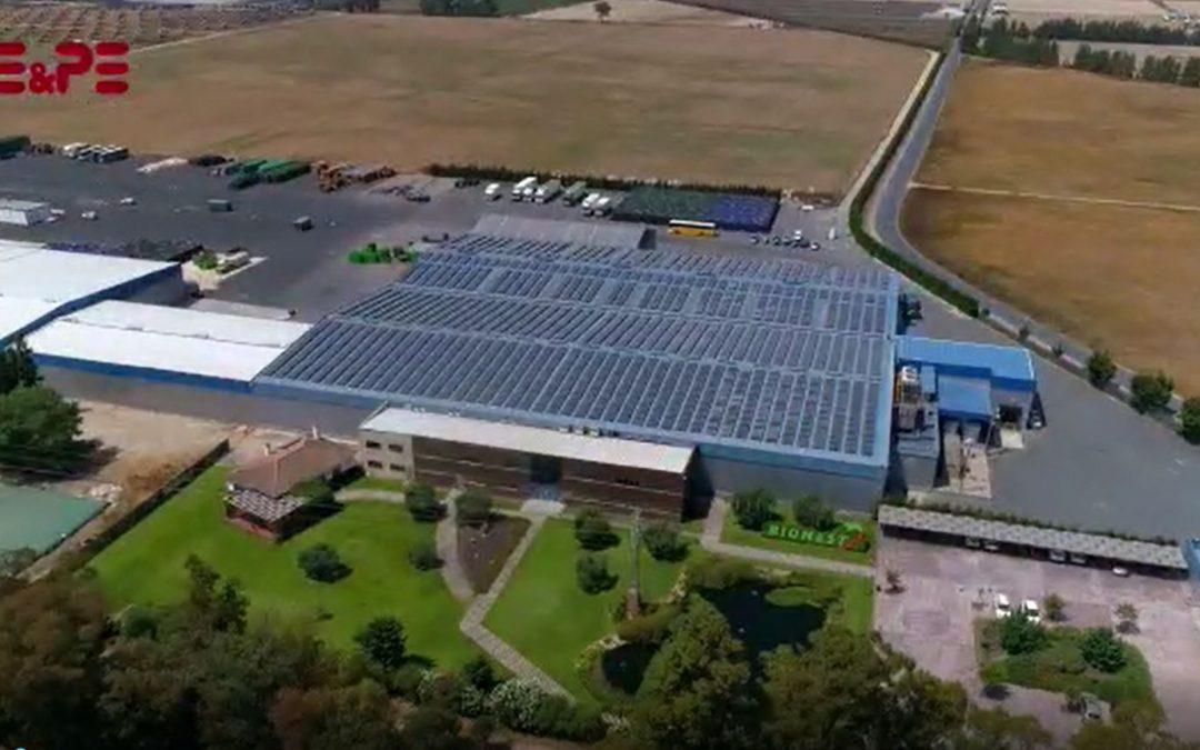 GE&PE ingeniería diseña la planta de autoconsumo de 840 kWn para BERRYNEST SAT.